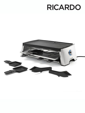 Picture of Reversible Electric Raclette Set